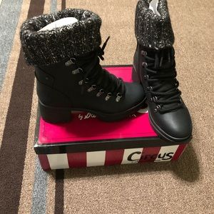 Women's new black circus booties. Size 8.5 M